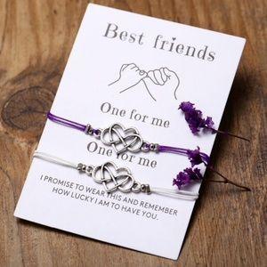 Jewelry - Best Friends Eternal Love Bracelet Set & Card NWT